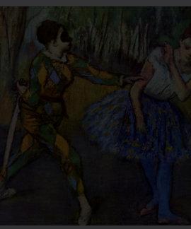 Harlequin and Columbine by Degas Edgar Tee Shirts