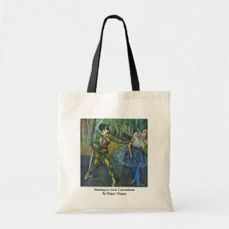 Harlequin And Columbine By Edgar Degas Bag
