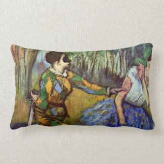 Harlequin and Columbine by Edgar Degas Throw Pillows