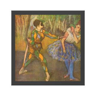 Harlequin and Columbine by Edgar Degas Vintage Art Canvas Print