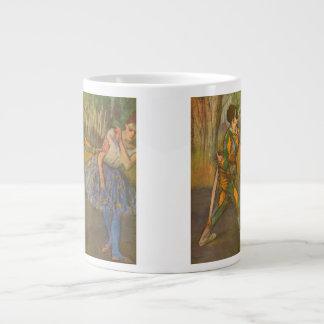 Harlequin and Columbine by Edgar Degas Vintage Art Large Coffee Mug