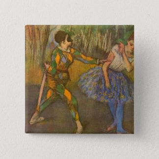 Harlequin and Columbine by Edgar Degas Vintage Art Pinback Button