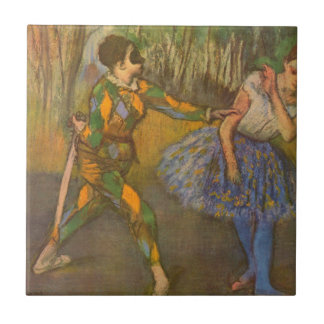 Harlequin and Columbine by Edgar Degas Vintage Art Tile