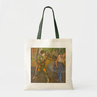 Harlequin and Columbine by Edgar Degas Vintage Art Tote Bag