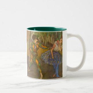 Harlequin and Columbine by Edgar Degas Vintage Art Two-Tone Coffee Mug