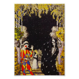 Harlequin and Death Poster