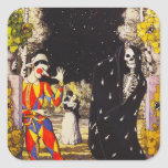 Harlequin and Death Stickers