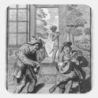 Harlequin and Scaramouche Square Sticker