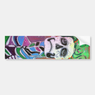 Harlequin Art Bumper Sticker