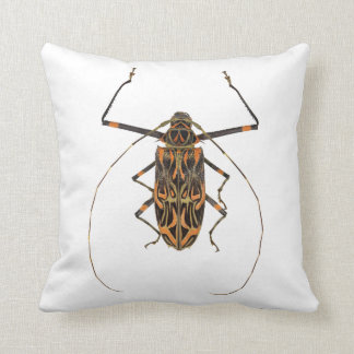 Harlequin Beetle Acrocinus Longimanus Throw Pillow