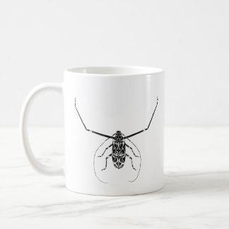 Harlequin beetle and name mug