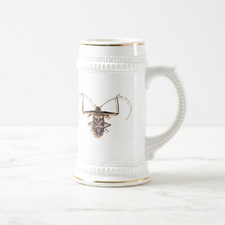 """Harlequin beetle"" Insect Watercolor Bug 18 Oz Beer Stein"