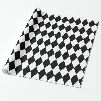 Harlequin blanco y negro papel de regalo