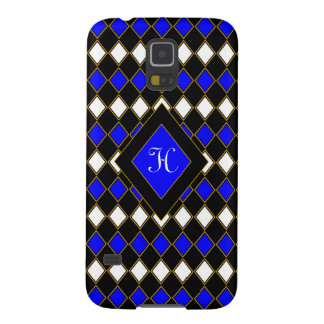 Harlequin Blue & Gold Galaxy S5 Covers