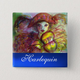 HARLEQUIN blue sapphire Button