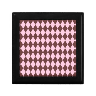 Harlequin Brown and Pink Jewelry Box