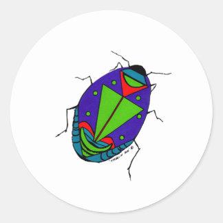 Harlequin Bug Classic Round Sticker