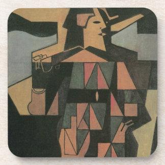 Harlequin by Juan Gris, Vintage Cubism Art Coaster