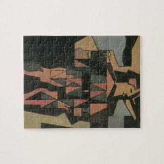 Harlequin by Juan Gris, Vintage Cubism Art Jigsaw Puzzle