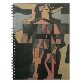 Harlequin by Juan Gris, Vintage Cubism Art Spiral Notebook
