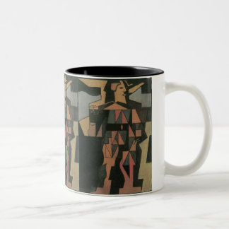 Harlequin by Juan Gris, Vintage Cubism Art Two-Tone Coffee Mug