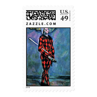 Harlequin By Paul Cézanne (Best Quality) Postage Stamps
