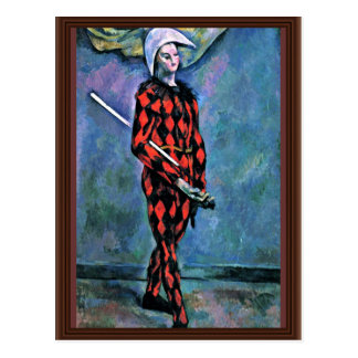 Harlequin By Paul Cézanne (Best Quality) Postcard