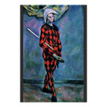 Harlequin By Paul Cézanne (Best Quality) Posters