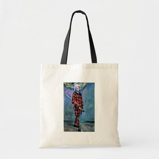 Harlequin By Paul Cézanne (Best Quality) Tote Bags