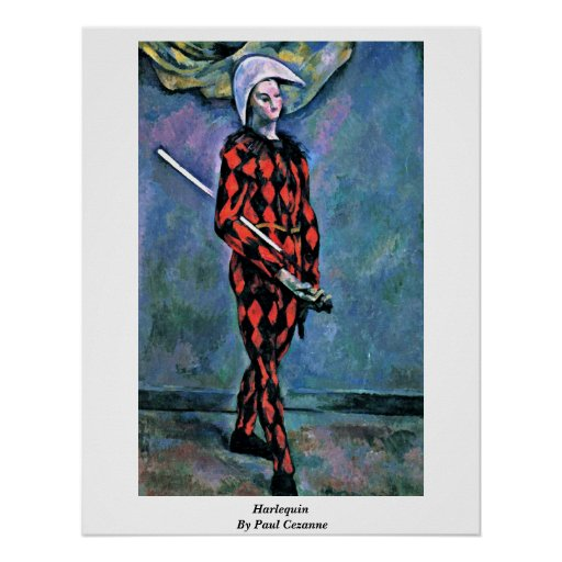 Harlequin By Paul Cezanne Posters