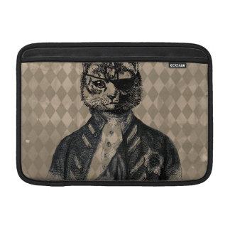 Harlequin Cat Grunge MacBook Sleeves