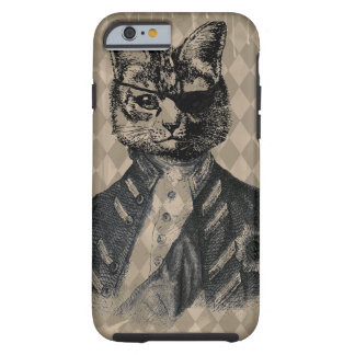 Harlequin Cat Grunge Tough iPhone 6 Case