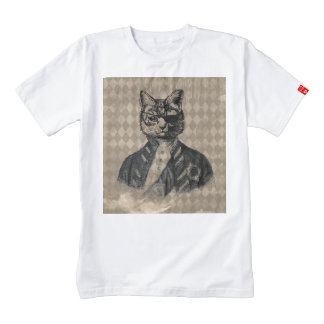 Harlequin Cat Grunge Zazzle HEART T-Shirt