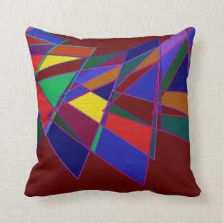 Harlequin colours and shapes throw pillow