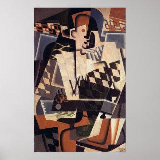 Harlequin con una guitarra, 1917 poster
