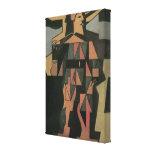 Harlequin de Juan Gris, cubismo del vintage Impresiones De Lienzo