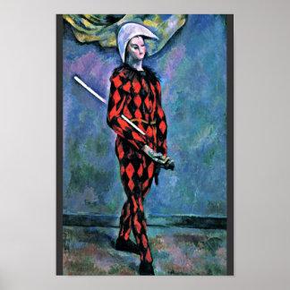 Harlequin de Paul Cézanne (la mejor calidad) Poster