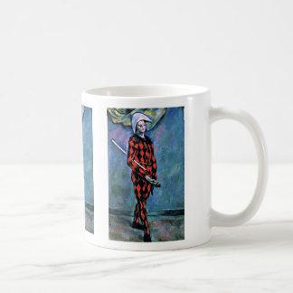 Harlequin de Paul Cézanne (la mejor calidad) Tazas De Café