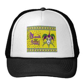 Harlequin del carnaval de la máscara del bufón gorra
