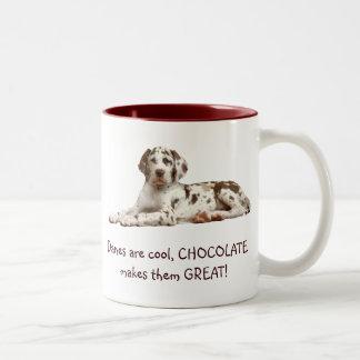 Harlequin del chocolate tazas de café