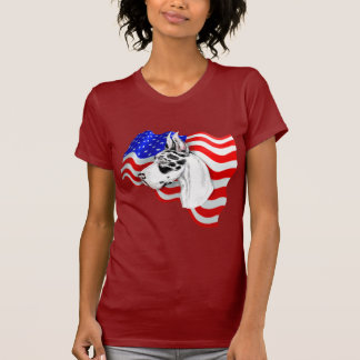 Harlequin del danés del patriota camisetas