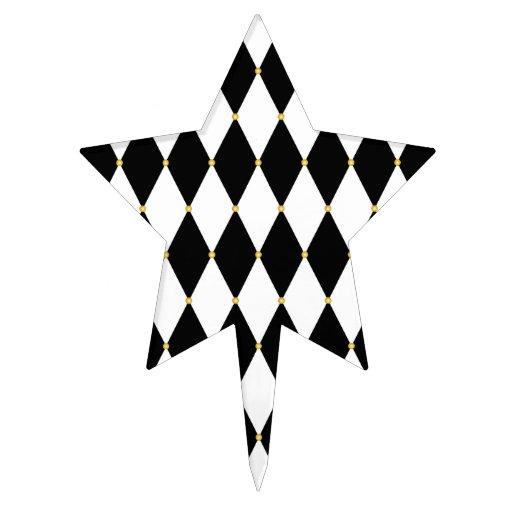 Harlequin Diamond Pattern Cake Picks