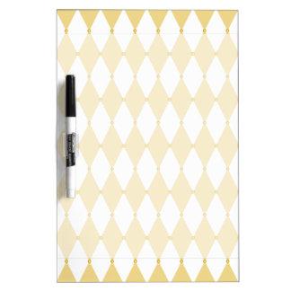 Harlequin Diamond Pattern Dry-Erase Board
