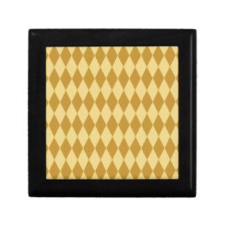 Harlequin Diamond Pattern Keepsake Boxes