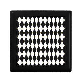 Harlequin Diamond Pattern Jewelry Boxes