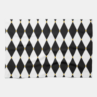Harlequin Diamond Pattern Hand Towels