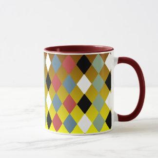 Harlequin Diamond Pattern Mug
