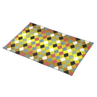Harlequin Diamond Pattern Place Mat