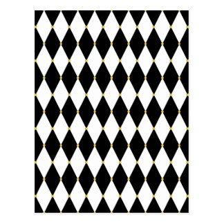 Harlequin Diamond Pattern Postcard