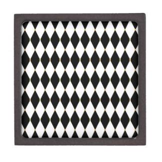 Harlequin Diamond Pattern Premium Keepsake Boxes